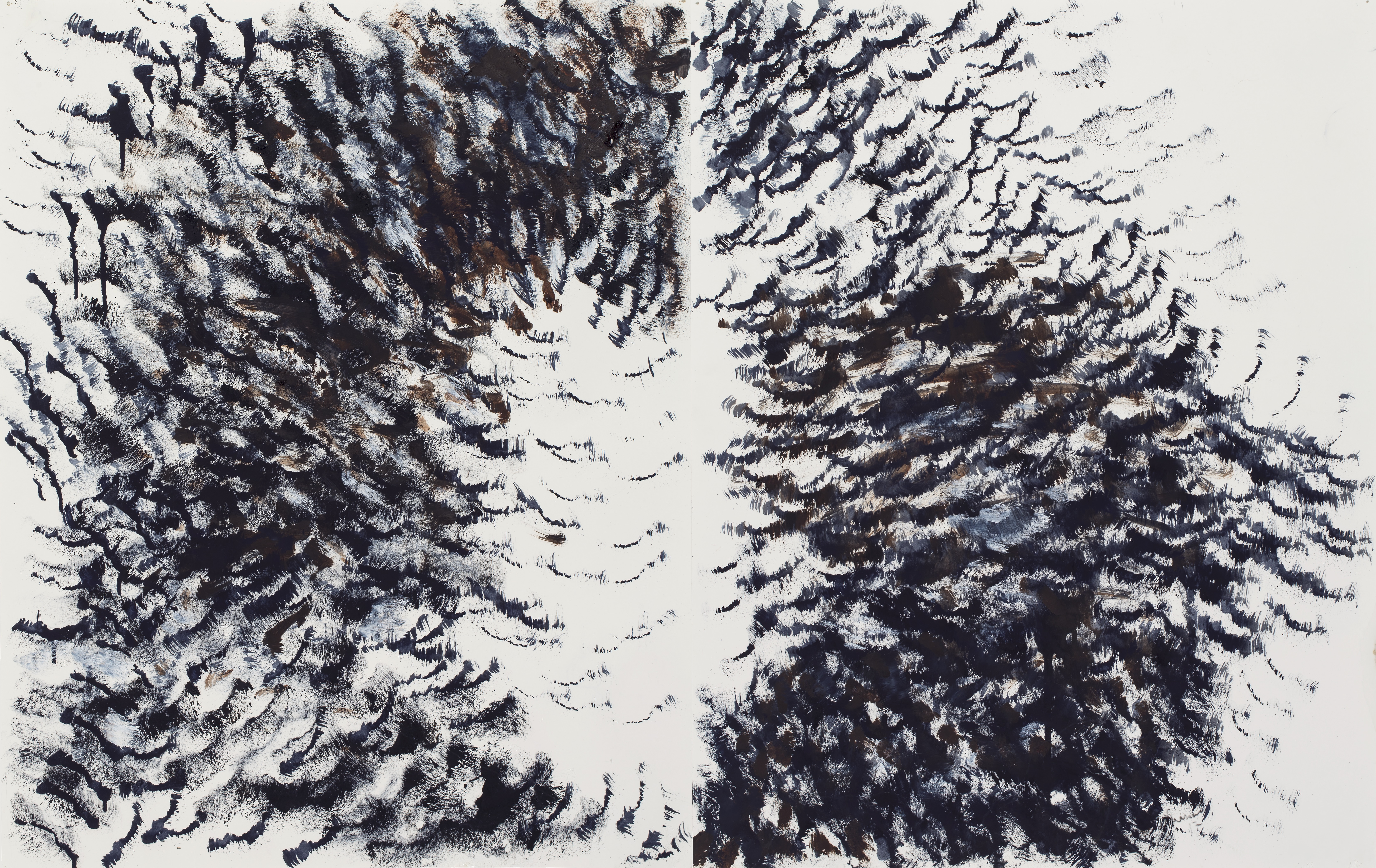 Crows in Flight diptych