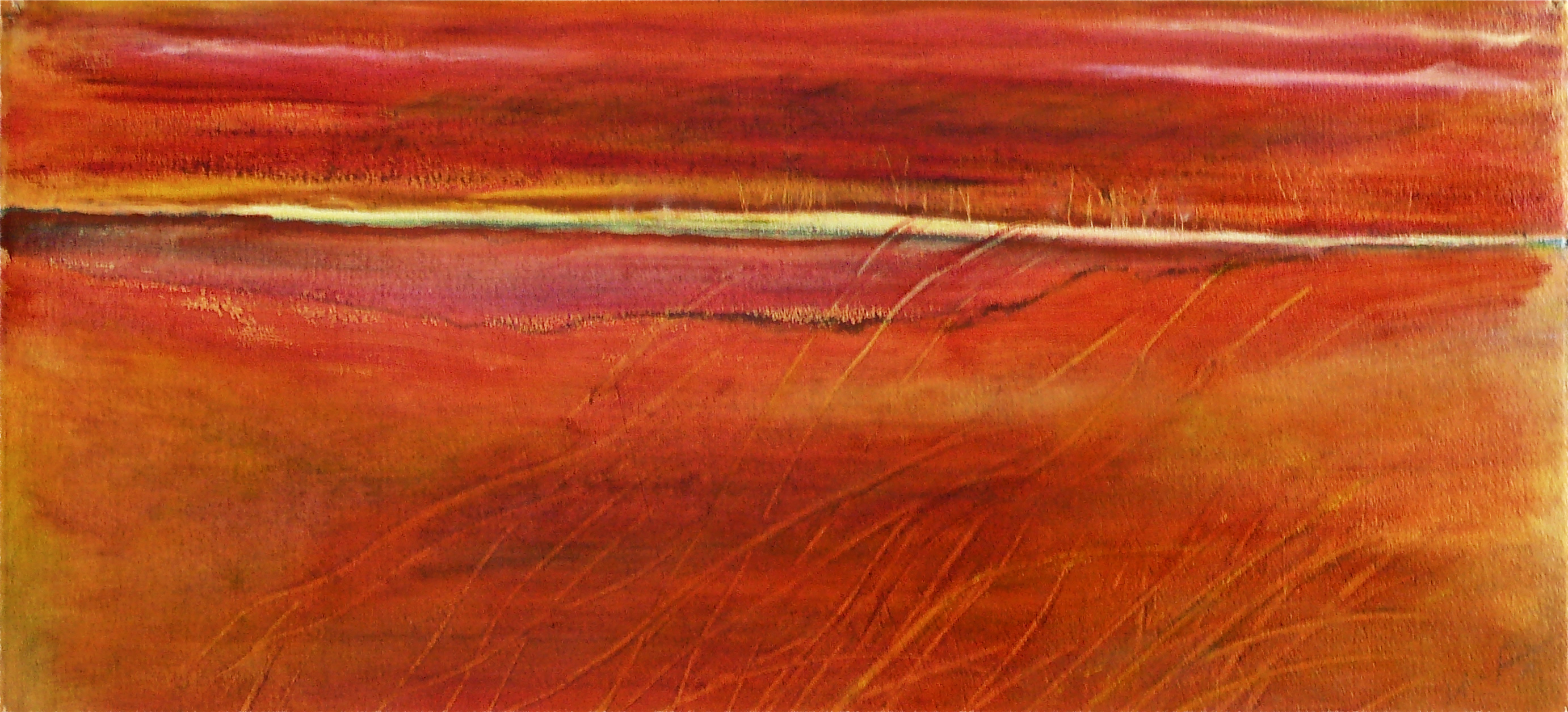 Red Marsh with Grasses